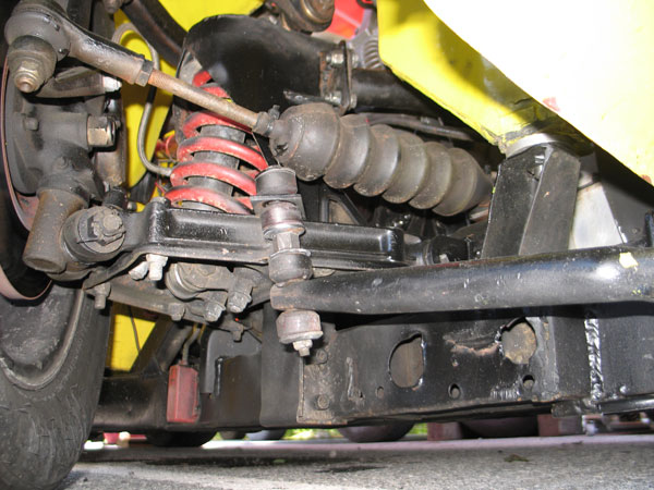 1-1/8 inch front anti-sway bar.
