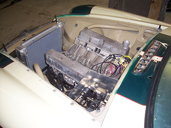 Engine compartment overview.