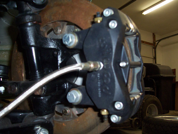 Wilwood caliper from rear/inside.