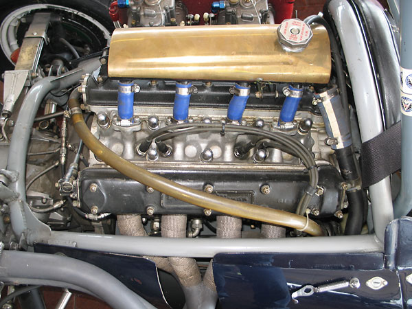 Coventry Climax FPF (dual cam, five bearing, 1475cc) engine.
