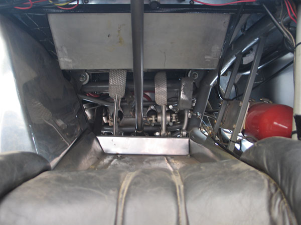 Above the steering column you can see one of the three original fuel tanks, but it's not used anymore.
