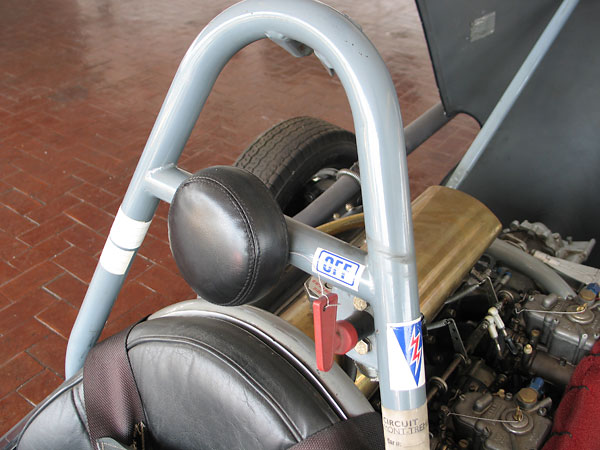 Roll hoop, headrest, shoulder harness, and emergency engine kill switch...