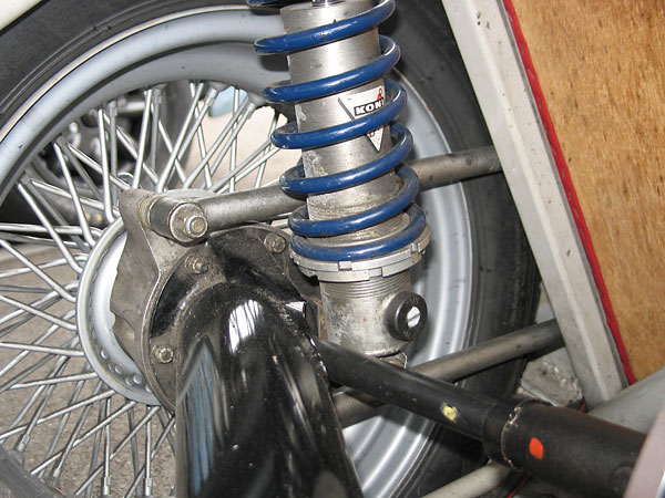rear hubs are one of the Lotus Eleven's weakest links