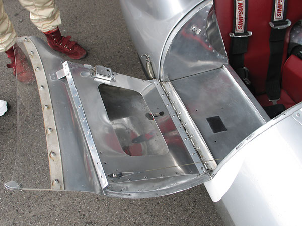 Door pockets were the only designated luggage space in the Lotus Eleven design.