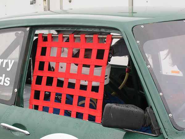 Window nets keep a driver's arms within the car in the event of a rollover.
