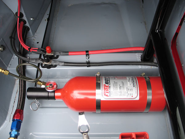 Race car fire systems