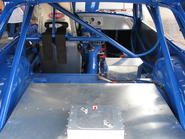 The rollcage was built by James Bowler of Weldone Inc., in Richmond Virginia.