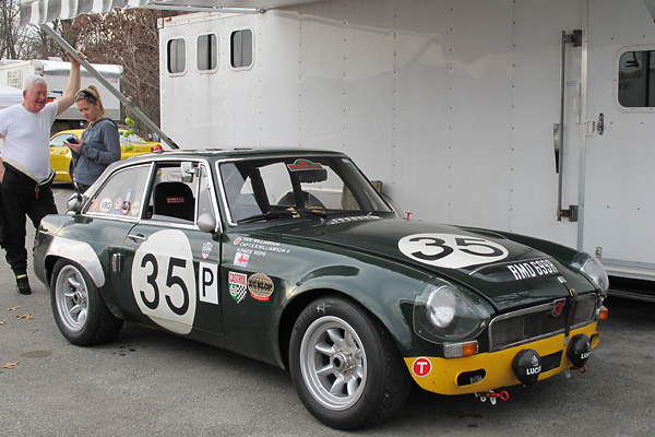 Ken Williamson's 1968 MGC GTS Racecar (Sebring Replica), Number 35