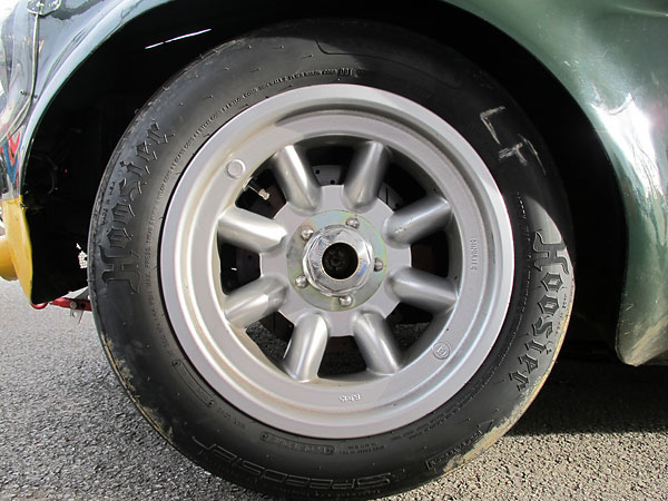 Minilite 8Jx15 eight spoke alloy wheels from Targett Motorsports.
