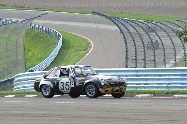 Ken Williamson contests the MG Vintage Racer 2011 Collier Cup all-MG feature race at Watkins Glen.