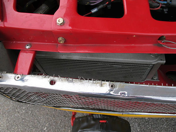 Mocal 13-row aluminum oil cooler.