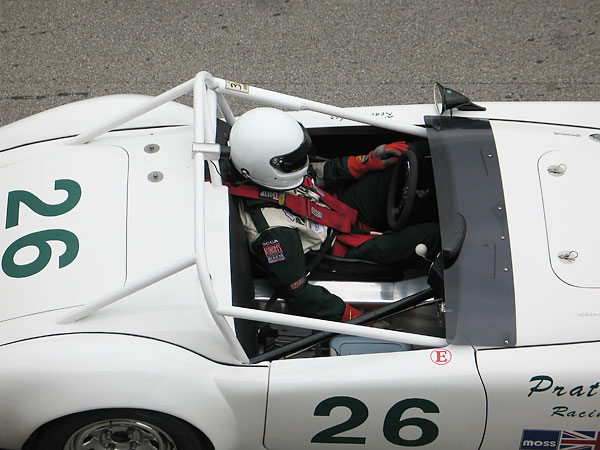 Jesse Prather prepares to drive his dad's MGA.