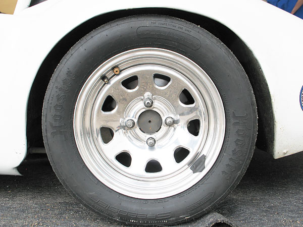 Hoosier Speedster P205/60R15 D.O.T. approved radial racing tires.