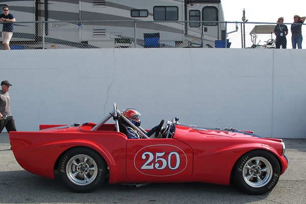 The 2012 Mitty was Larry's third race in his newly completed Daimler SP250 racecar.