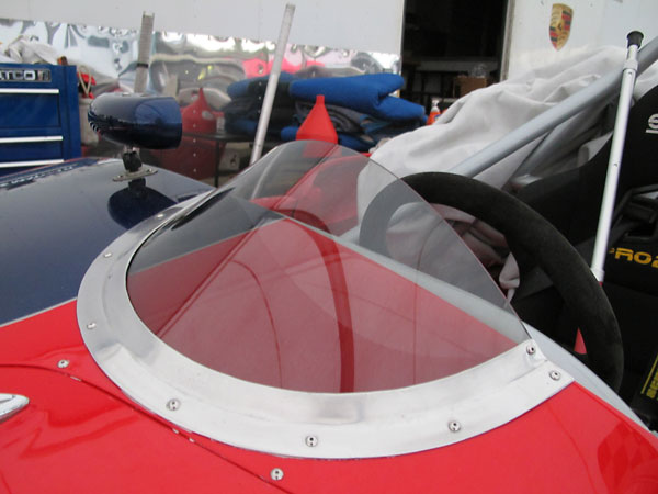 Custom low-profile Perspex wind screen.