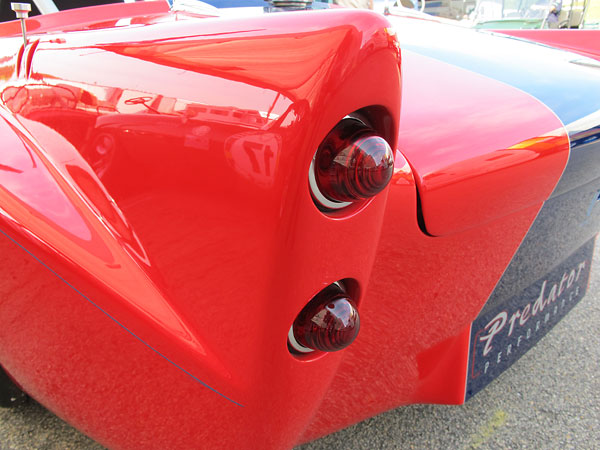 Daimler SP250 tail lamps.