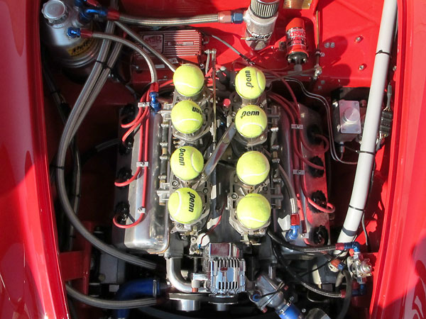 The car's original (numbers-matching) Daimler 2.5L V8 engine has been rebuilt by Ted Wenz.