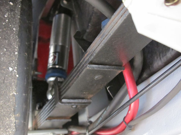 Lever shock absorbers have been replaced with QA1 telescopic shocks.