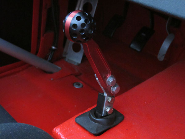This gear shifter mates to a Jerico Performance Products four speed dog-ring gearbox.
