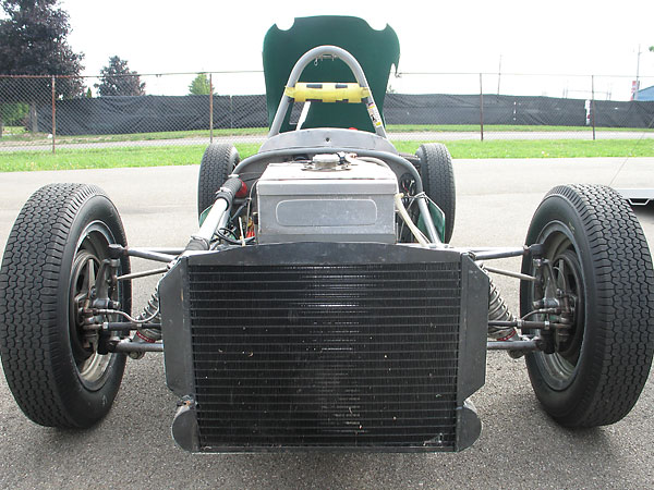 Combined radiator (above) and oil cooler (below).