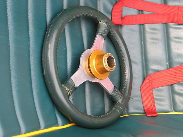 The quick release steering wheel hub is a modern safety feature.