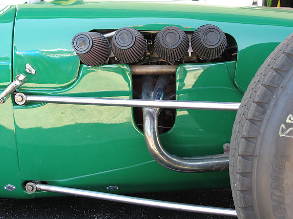 Use of Heim joints on suspension radius rods was pioneered by the Cooper Car Company