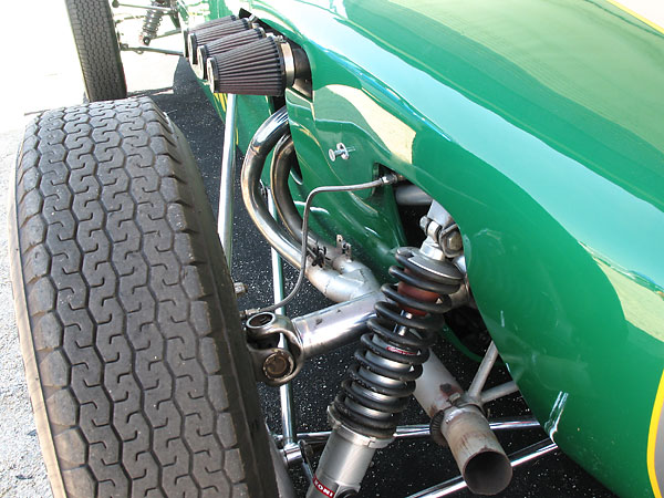 coilover shocks instead of a transverse leaf spring