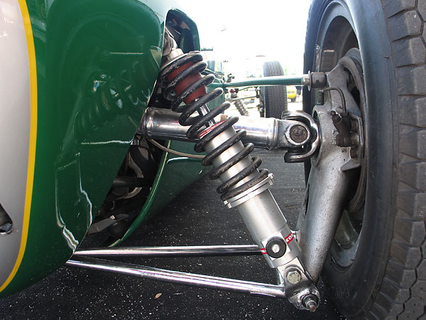 KONI adjustable coilover shock absorbers.