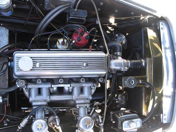 Triumph TR3 engine, rebuilt with larger cylinder sleeves (86mm in lieu of 83mm).