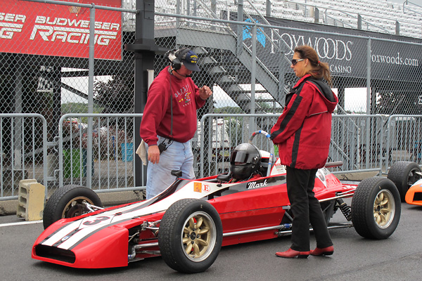 Roland Johnson prepares Mark Weatherup and his Formula Ford for each race.