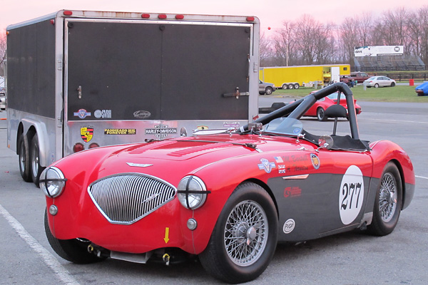 Michael Bartell's 1956 Austin Healey 100M Racecar, Number 277