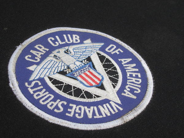 Vintage Sports Car Club of America patch (sewn onto the tonneau cover.)