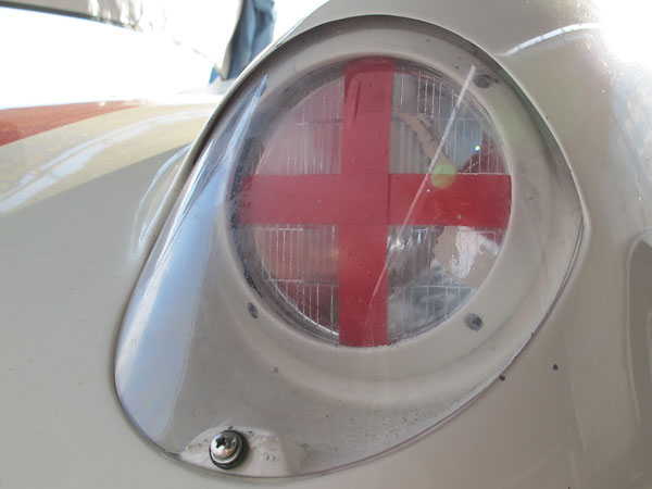 Perspex (clear acrylic) headlamp fairings.