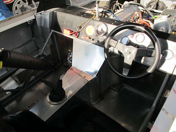 Elva MkIVs were provided with right-hand operated parking brake levers.