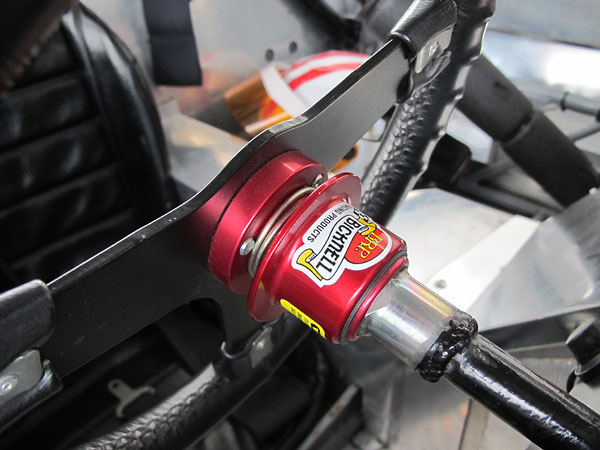 Bicknell Racing Products quick release steering wheel hub on a Mountney steering wheel.