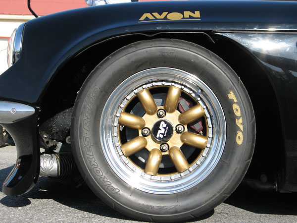 3-piece aluminum racing wheels by Image Wheels International Ltd. of Great Britain.