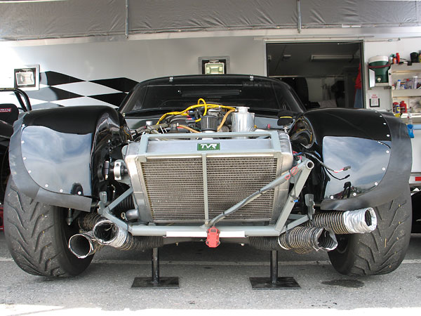 Ducts from the front clip's integral air dam supply airflow to the engine oil cooler and brakes respectively.