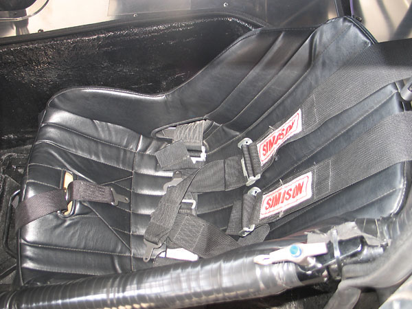 Kirkey 41V low back aluminum drivers seat, with Simpson 5-point cam-lok safety harness.