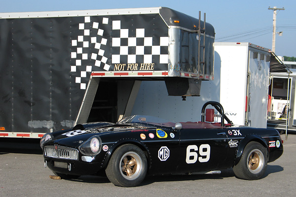 The Al Pease / Mike Adams Supercharged 1962 MGB Racecar