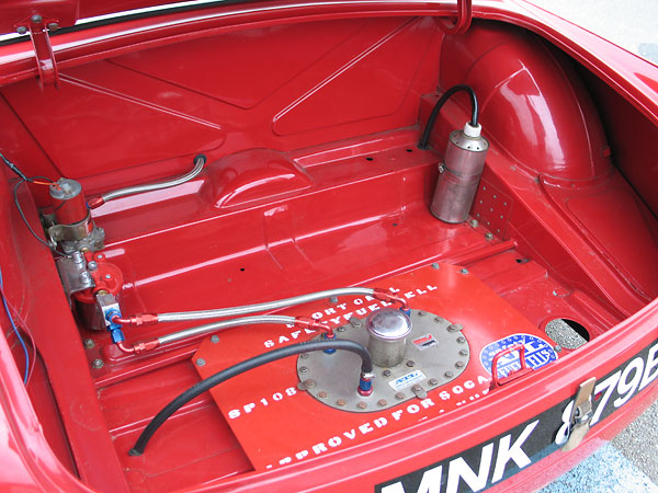 Holley Red fuel pump. Fram HPG1 fuel filter.