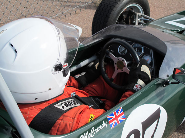 British expatriate Neil McCready, strapped in and ready to race.