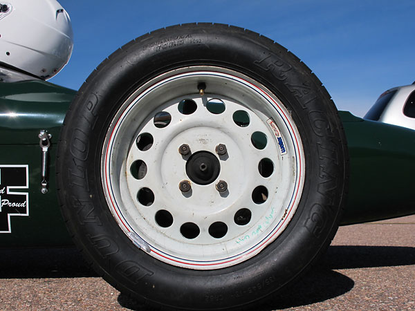 Weber Racing steel wheels.