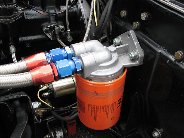 Fram HP1 oil filter, remotely mounted.