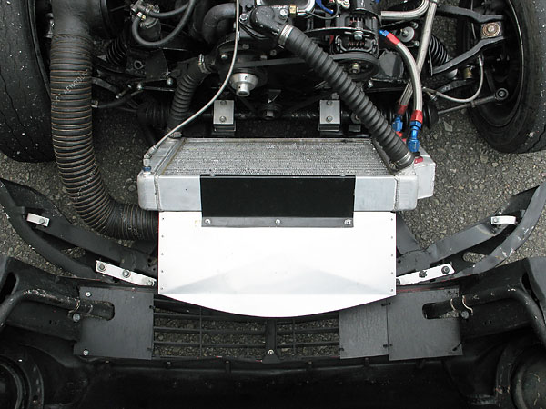 Aluminum ductwork keeps airflow from bypassing the radiator core.