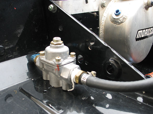 Holley fuel pressure regulator.