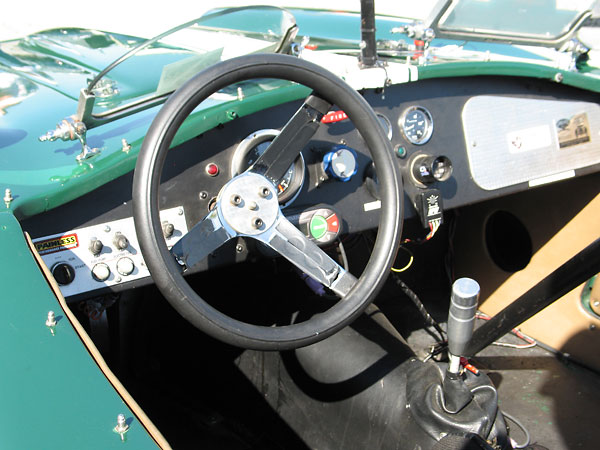 Cockpit of a 1959 Turner Sports Mk1 vintage racecar.