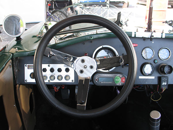 This Grant steering wheel is rubber padded for comfort.