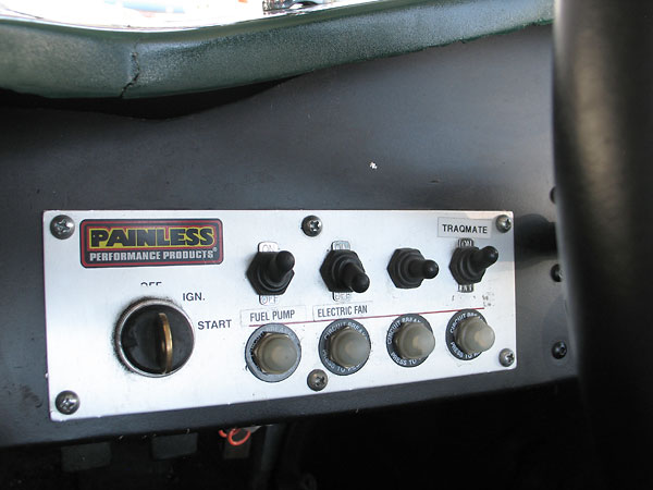 Painless Performance Products switch panel, with four fuses.