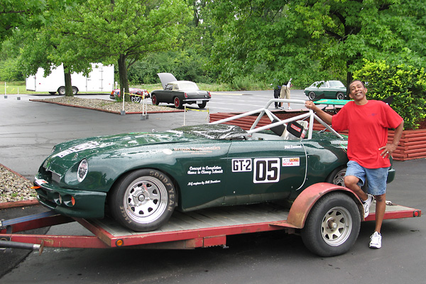 Robert Maupins brought Phil's MG RV8 to the BritishV8 2010 meet in Indianapolis.