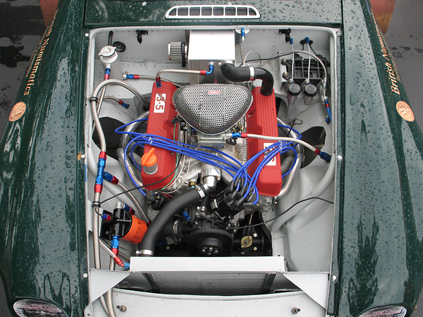 Rover 3.5L aluminum V8 engine, rebuilt by Bill Davidson.